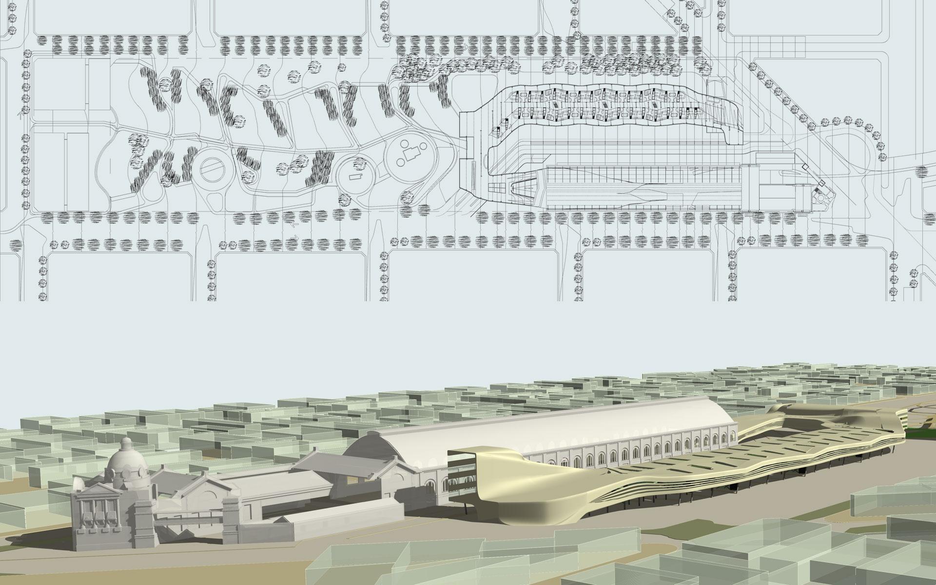 Antigua Estación de trenes y proyecto de estación de buses