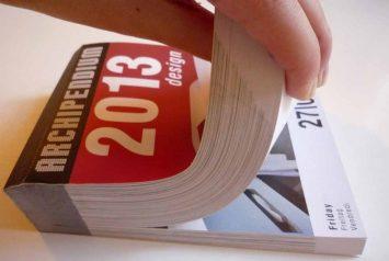 Calendario Archipendium Diseño 2013 donde aparece publicado el estudio NOA