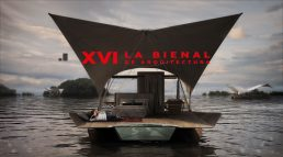 Acqua eco floating lodge at the International Biennial of Architecture