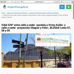 AABE Public Auction of lots of the Masterplan Colegiales